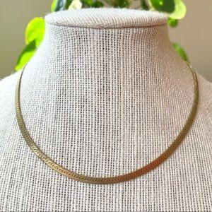 🎉5/20 SALE🎉vintage gold tone flat chain necklace